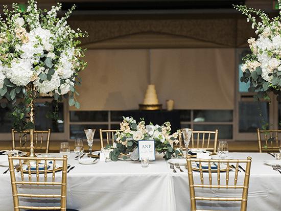 Bayside Catering Wedding Maryland bride groom table