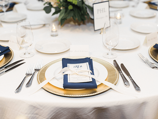 bayside catering maryland wedding table